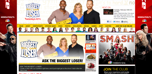 the biggest loser page on nbc
